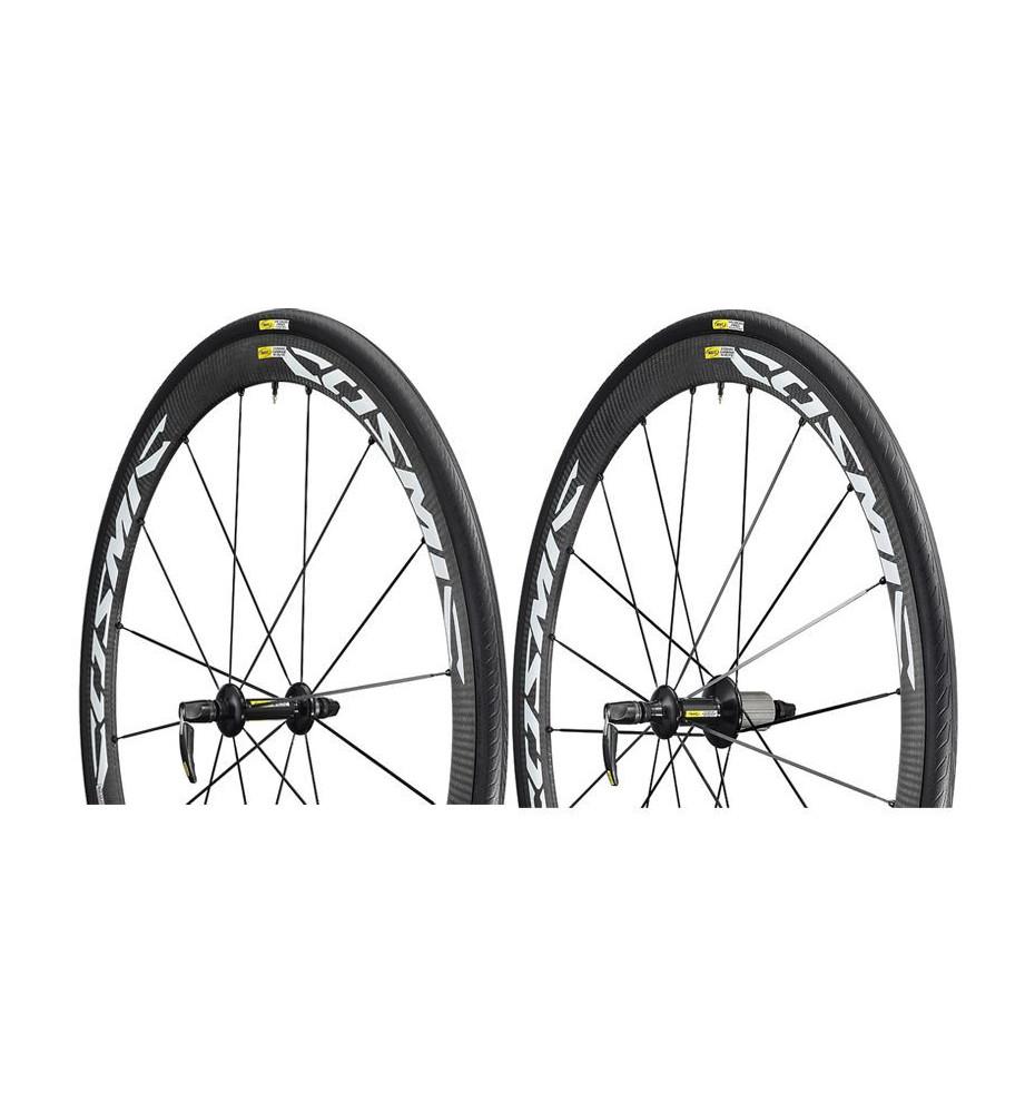 Paire de roues Mavic Cosmic Carbone 40 Elite blanche
