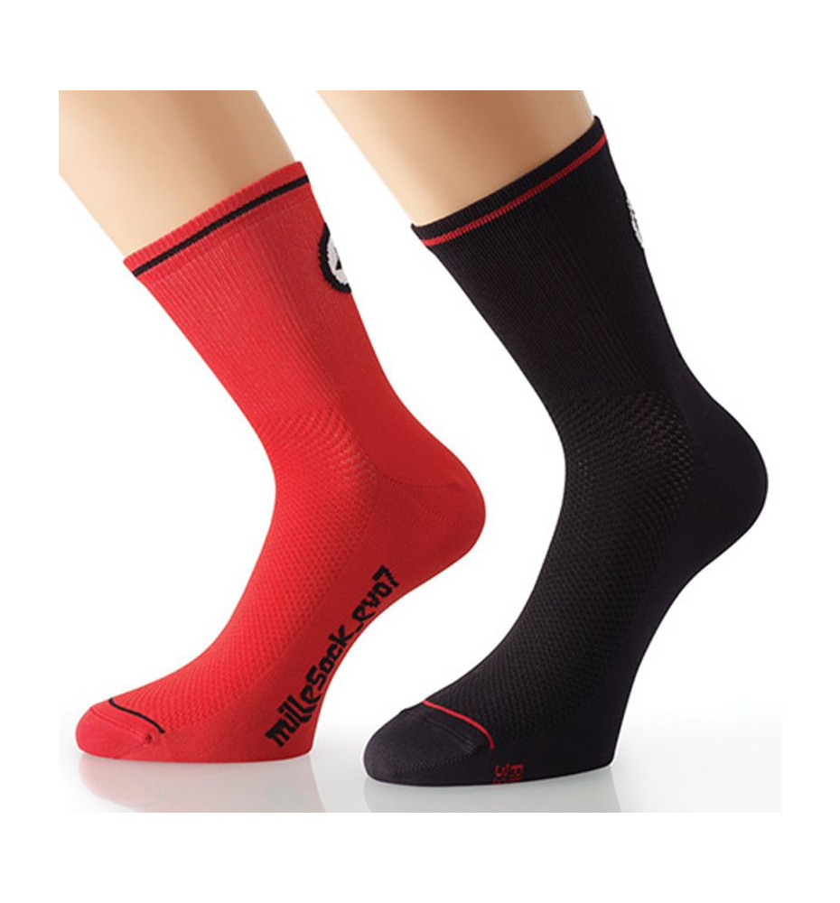 Assos MilleSock_evo7 Rouge Chaussette