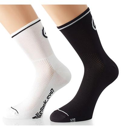 Assos MilleSock_evo7 Blanches 2 paires de chaussettes