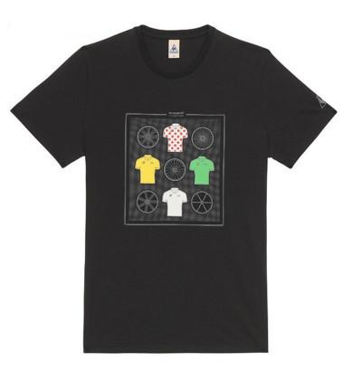 Le Coq Sportif Tshirt Tour de France N°11 Noir