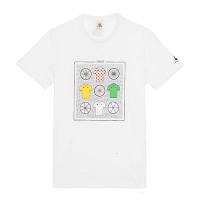 Le Coq Sportif Tshirt Tour de France N°11 Blanc