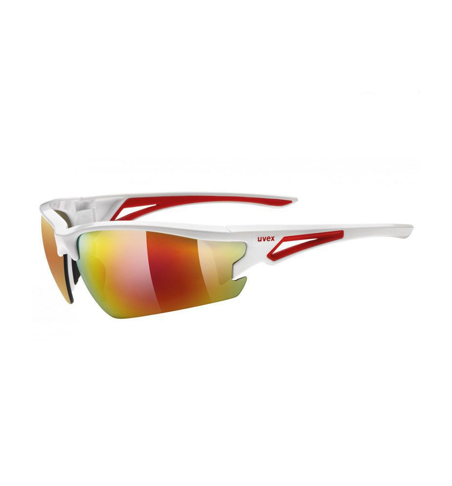 Uvex Lunettes Sportstyle 108 Blanches et Rouges