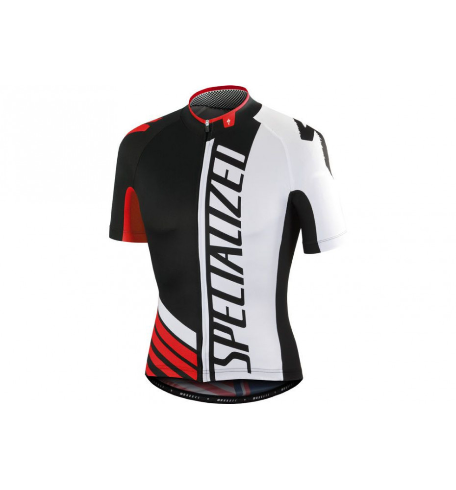 Maillot Specialized Pro Racing SS Noir Blanc Rouge