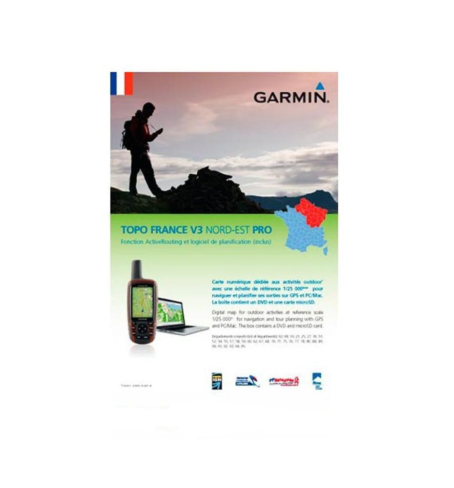 Garmin Topo V3 Pro Nord Est Cartographie GPS
