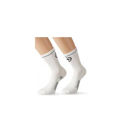 Chaussettes Assos équipeSocks_evo7 Blanches 2 PAIRES
