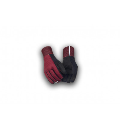 Pedaled gants thermo bordeaux