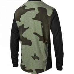 T-shirt Fox Indicator LS MASH Noir et Camo