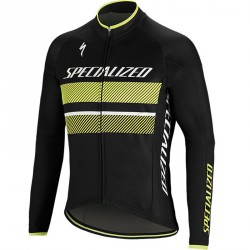 Specialized Therminal RBX Comp logo jaune maillot manche longue