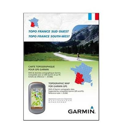 Garmin Topo France régions Sud Ouest