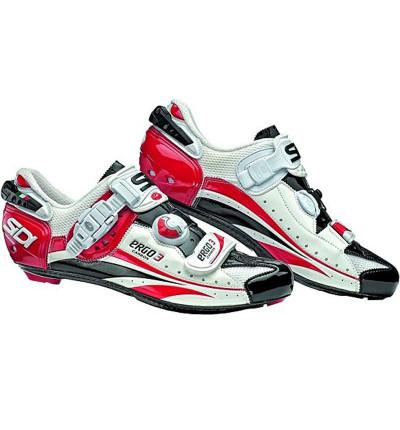 Chaussures  Sidi Ergo 3 Carbon Rouge Blanc Noir